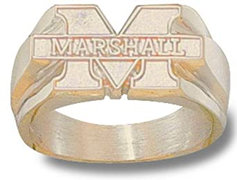 Marshall Thundering Herd M Marshall Mens Ring Size 10 1 2 - 14KT Gold Jewelry by Logo Art
