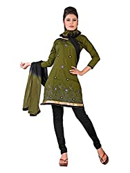 Urban Vastra Green Embroidery Dress Material ( 18997A )