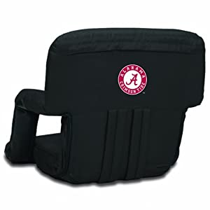 NCAA Alabama Crimson Tide Ventura Portable Reclining Seat, Black from Picnic Time