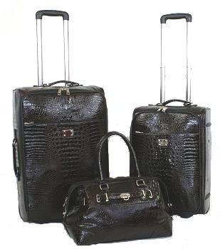Kofferset - Koffer 3 teilig - Croco-Design -