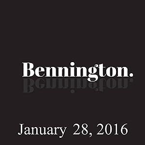 Bennington, January 28, 2016 Radio/TV Program
