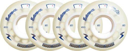 KRYPTONICS Inline Wheels EXTREME STICKY INDOOR HOCKEY set of 4