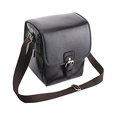 1x Vintage Stylish Leather Camera Bag Case Dslr Shoulder Strap Messenger Bag