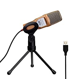 Tonor USB Professional Condenser Sound Podcast Studio Microphone for PC Laptop Computer Apple Mac Upgraded Version - Plug and play, Gold