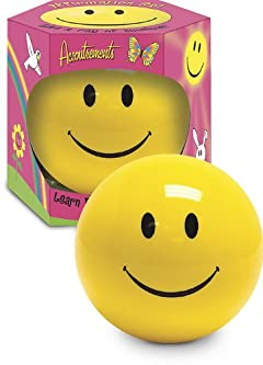 Happy Smiley face Affirmation Ball -Great Compliments - Gag gift -