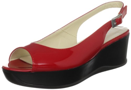 Jane Shilton Women's Tufnell Red Patent Wedges Heels 66007 5 UK