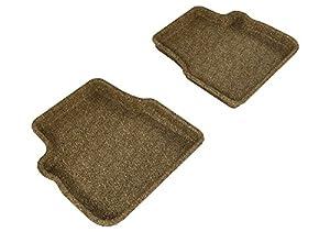3D MAXpider Second Row Custom Fit Floor Mat for Select Subaru Forester Models - Classic Carpet (Tan)