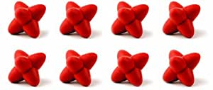 Tovolo Tumble Trivets, Red - Set of 8