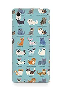 Amez designer printed 3d premium high quality back case cover for Sony Xperia M4 (Cat Names)