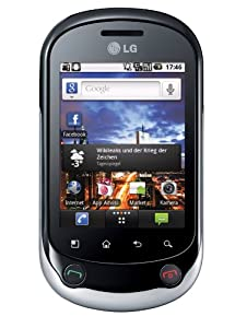 LG C550 Optimus Chat (Android 2.2, 3.0 Megapixels Kamera, 7,1 cm (2,8 Zoll) Touchscreen) silber