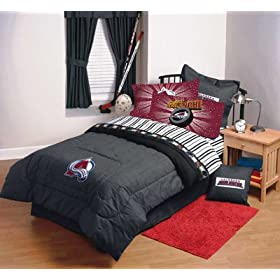 COLORADO AVALANCHE 4 PIECE TWIN BEDDING SET, Comforter Sheets NEW NHL Hockey Boys