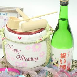 純米酒祝い酒 720ml×1本 & ミニ鏡開きセット 「結婚祝い」