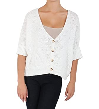 Double Zero Loose Droop Cropped Blouse in Cream