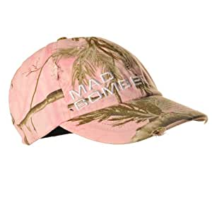 Mad Bomber Camouflage Cap, Pink Real Tree AP HD, Small