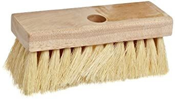 "Weiler 7"" Block Size, 5 No. Of Knots, White Tampico Fill, Masonry And Applicator Block-Type Roof Brush"