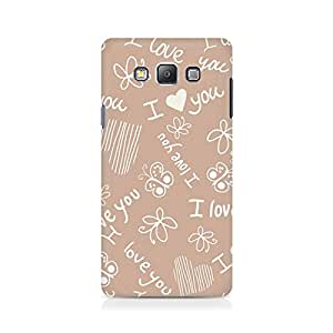 Motivatebox- I Love You Premium Printed Case For Samsung Grand Prime 5308 -Matte Polycarbonate 3D Hard case Mobile Cell Phone Protective BACK CASE COVER. Hard Shockproof Scratch-