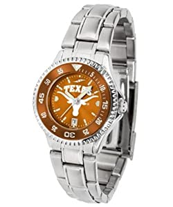 Texas Longhorns Ladies Stainless Steel Dress Watch by SunTime