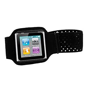 GTMax Black Neoprene Armband Case Cover For Apple iPod Nano 6th Generation