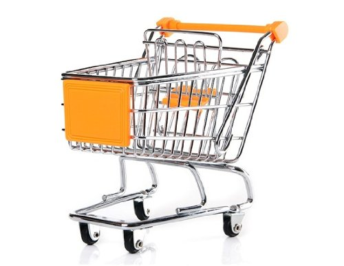 Mini-Metal-Shopping-Cart-Silver