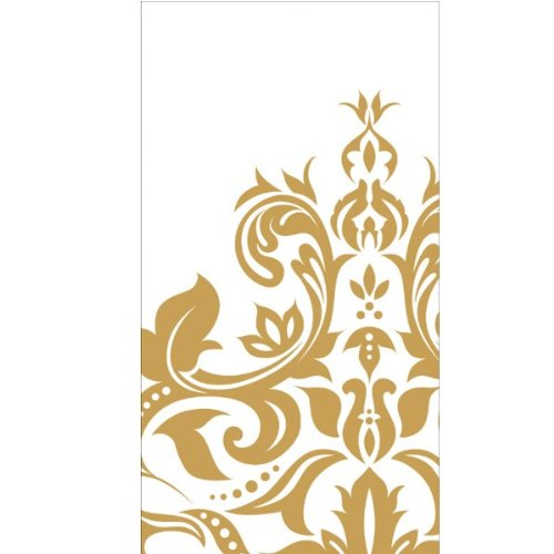 Golden Anniversary 3-Ply Buffet Napkins 16 Per Pack - 1