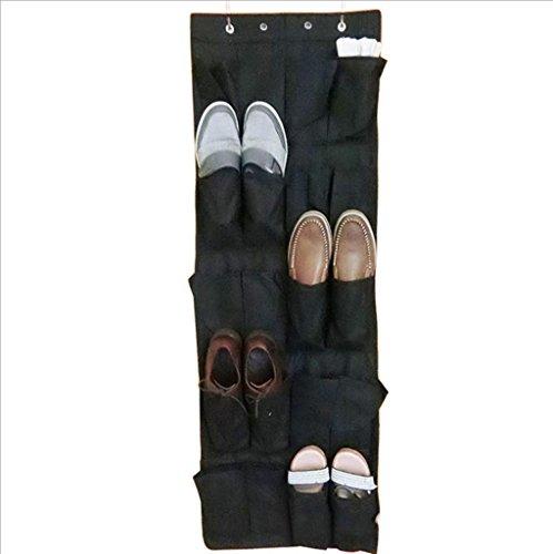 GYMNLJY 20 griglia porta scarpa Guadai camera da letto parete Non tessuta scarpe deposito Bag(pack of 2) . black