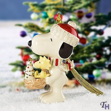 Snoopy? 'S Holiday Nest Ornament By Lenox front-940358