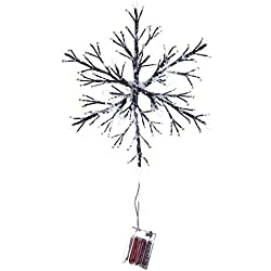 Woodland LED-light Holiday Twig Snowflake Christmas Decoration