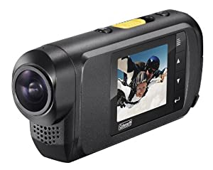 Coleman CX7WP Conquest Full 1080i HD Waterproof 1.5-Inch LCD Action and Sports Camcorder with Mounts (Black)
