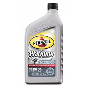 Pennzoil 550022686 6pk platinum full synthetic for Pennzoil platinum 5w 20 synthetic motor oil