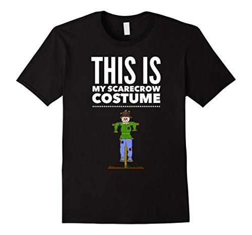 [Men's Funny Halloween TShirt Costume This is my Scarecrow Costume Large Black] (Male Scarecrow Costume)