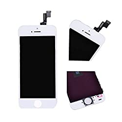 Online For Good(TM) Full LCD Display + Touch Screen Digitizer Assembly for Apple iPhone 5S - White