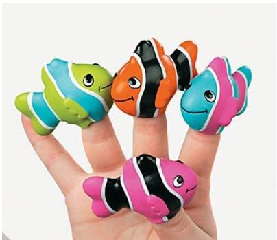 Vinyl Clown Fish Finger Puppets