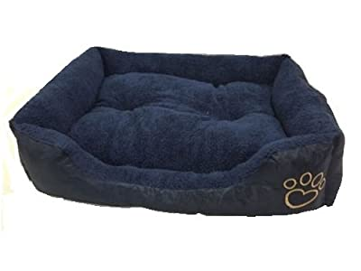 MAX CARE Deluxe Soft Washable Dog Pet Warm Basket Bed Pad with Fleece Lining