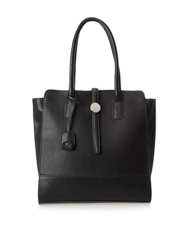 London Fog Women's Kenzie Tote  [Black]