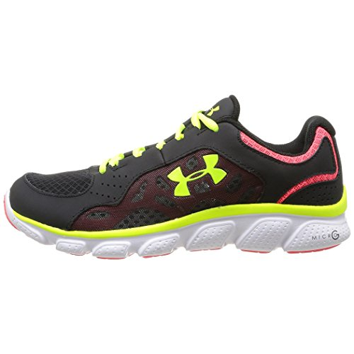 Under Armour Micro G Assert Iv Sz 7 Womens Running Shoes Black New In Box