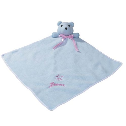 Zanies Polyester and Fleece Snuggle Bear Puppy Blanket, 15-Inch, Baby Blue