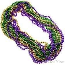 Novelties Direct Metallic Mardi Gras Party Beads
