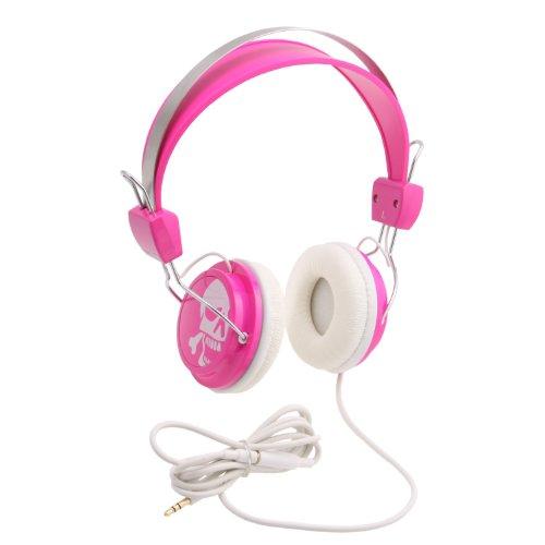 Konoaudio Ka-Roh-107 Retro Headphones (Pink Skull)
