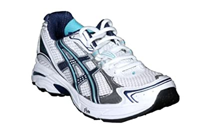 ASICS Women's GT-2130 Running Shoe,White/Midnight/Turquoise,6.5 D US