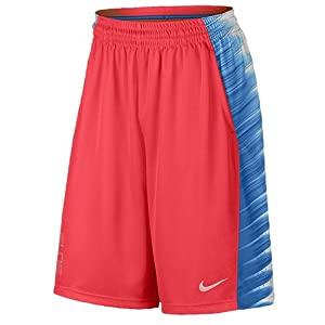 Nike Men's Dri-Fit Elite Wing Basketball Shorts-Blue/Orange