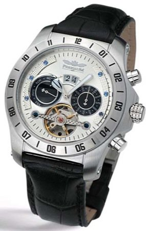Perigaum Transatlantic Automatic Skeleton Watch - White Dial - P-0605SW