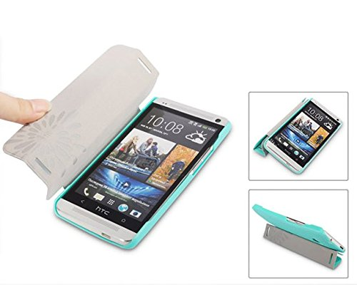 Baseus Leather Flip Cover for HTC One M7 Dual Sim 802D (Blue)