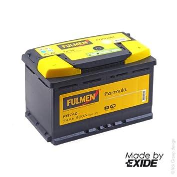 v 0 fulmen batterie voiture voiture fb740 12v 74ah 680a batterie s batterie s. Black Bedroom Furniture Sets. Home Design Ideas
