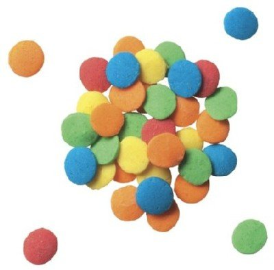 BRIGHT Round Sugar QUINS 3 oz Edible Sprinkles CupCake Cake Topper Decorations