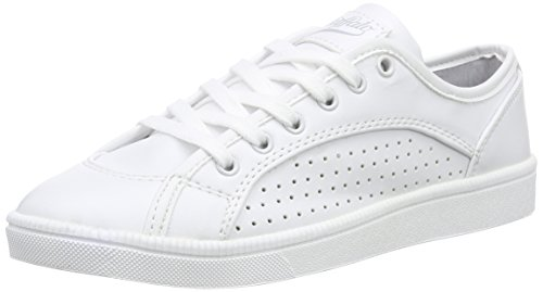 Buffalo 100-18 NAPPA PU - Scarpe da Ginnastica Basse Donna , Bianco (Weiß (WHITE 09)), 37