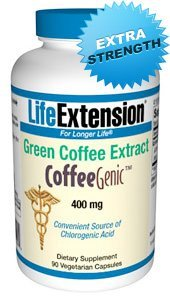 Life Extension - Coffeegenic Green Coffee Extract 400Mg 90 Vegetarian Capsules