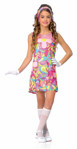 60s 70s Groovy Girl Dress Outfit