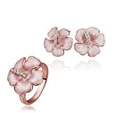 buy Est Jewelry Vintage Rose Gold Plated Jewelry Set Earrings Ring African Wedding Accessories Turkish Jewlery Sets Fashion S363 18K Charms For Necklaces For Women