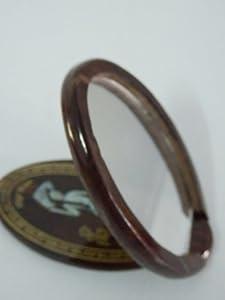Thai Hand Craft Unique Vietnam Style Natural Wooden Compact Pocket Mirror - Brown