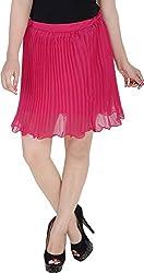 Soundarya Women's Regular Fit Skirt (Pink, 24)